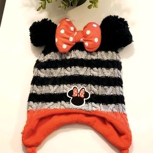 Disney Minnie Mouse fleece lined knit hat